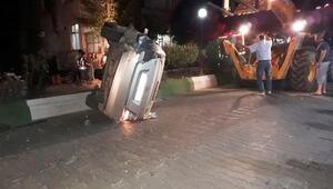 Bayramiçte iki otomobil çarpıştı: 1 yaralı