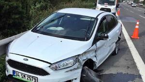TIR otomobille çarpıştı: 1 yaralı