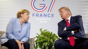 Merkel ve Trump Fransada görüştü