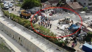 Belediyeden uyarı geldi ardından hepsi tek tek yıkıldı