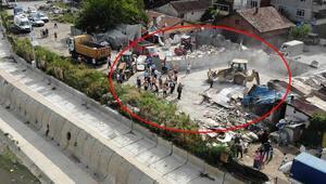 Dere yatağındaki barakalar yıkıldı