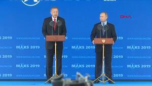 Erdoğan ve Putin'den Rusya'da önemli mesajlar
