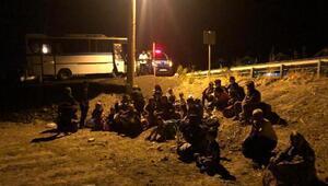 Balıkesirde 137kaçak göçmen ve 2 organizatör yakalandı