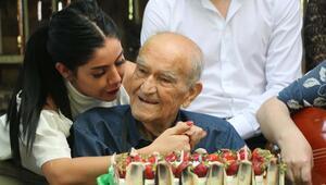 Huzurevinde 104üncü  yaş gününü kutladı