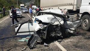 Karabükte zincirleme kaza 2 ölü, 7 yaralı