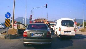 Fethiyedeki satırlı trafik magandası yakalandı
