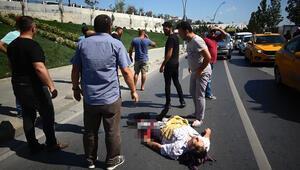 Sultangazide yaşlı adama otomobil çarptı Herkes seferber oldu