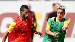 Galatasarayda Belhanda sevinci Takımla çalıştı...
