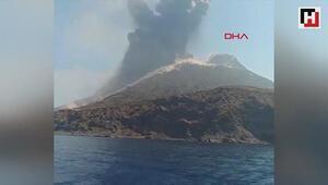 Stromboli Yanardağı yine patladı