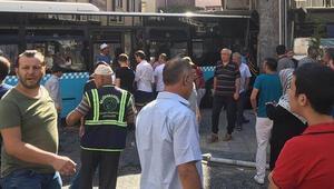 Son dakika: İstanbulda panik anları Halk otobüsü kontrolden çıktı,