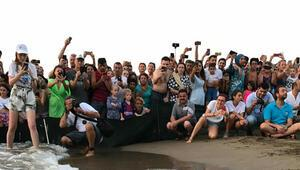 Tedavileri tamamlanan caretta carettalar denize bırakıldı