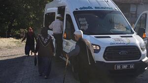 Sekiz minibüs hizmet veriyor