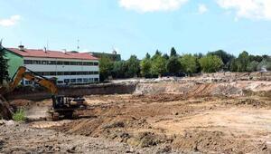 Orman Bölge Müdürlüğü binasının inşaatında hafriyat çalışması bitti