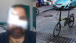 Bisiklet yolunda akıl almaz kaza Yüzüne 25 vida 8 plak takıldı