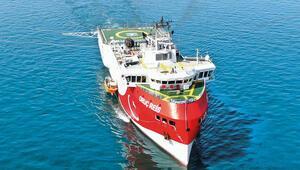 Oruç Reis gemisi Akdeniz'e indi