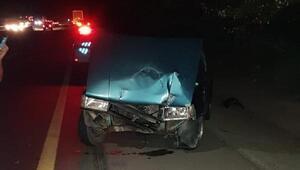 Otomobil ile TIR çarpıştı: 4 yaralı