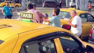 Taksicilerden taksiciye dayak