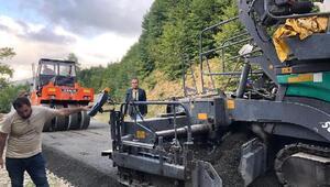 Kaymakam Karacan beton yol çalışmalarını inceledi