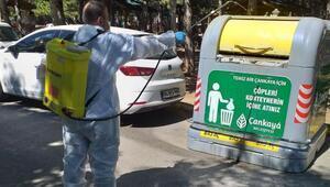 Çankaya Belediyesi, ilaçlama çalışmalarını sürdürüyor