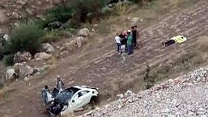 Otomobil 50 metrelik uçurumdan yuvarlandı: 1 ölü, 1 yaralı