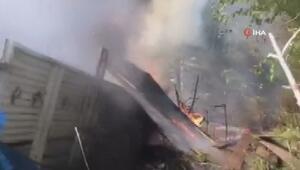 Uçurumdan yuvarlanan kamyon alev alev yandı: 3 ölü