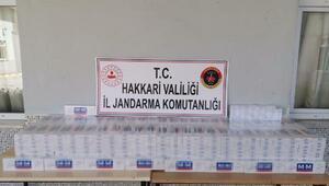 Hakkaride 5 bin paket kaçak sigara ele geçirildi