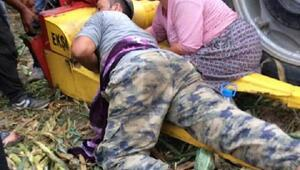Ailesine yardım eden askerin kolu silaj makinesine sıkışarak koptu