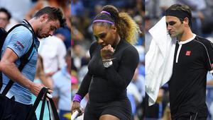 Federer ve Wawrinkadan Amerika Açıka veda, Serena Williams yarı finalde