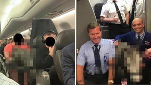 Uçakta büyük sürpriz! Yolcular ve pilot şaşkına döndü
