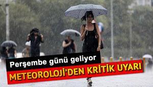 Meteorolojiden Marmaraya yağış uyarısı 5 Eylül Perşembe hava durumu tahminleri