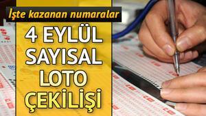 Sayısal Lotoda 1 milyon TL sahibini buldu Milli Piyango 4 Eylül Sayısal Loto çekiliş sonuçları