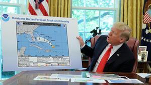 Sahte meteoroloji haritası gösteren Trump 90 gün hapis cezası alabilir