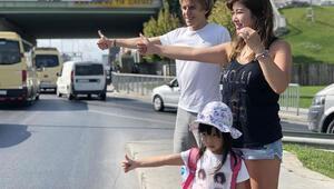 5 yaşındaki Olivia, otostopla dünya turuna İstanbul'dan başladı