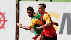 Galatasaray çift kale taktik çalıştı