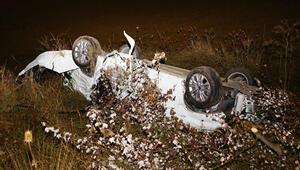 Otomobil takla attı Burcu ve Kübranın acı sonu