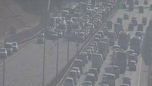 Son dakika...Fatih Sultan Mehmet Köprüsünde hareketli dakikalar: Gözaltılar var