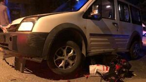 Hafif ticari aracın çarptığı motosikletin sürücüsü öldü
