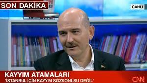 İçişleri Bakanı Süleyman Soyludan İstanbul ve Ankara için kayyım açıklaması