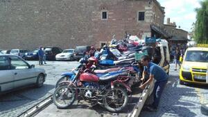 Edirnede motosiklet operasyonu