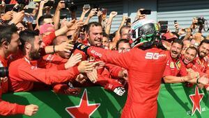 İtalyada Ferrari zaferi