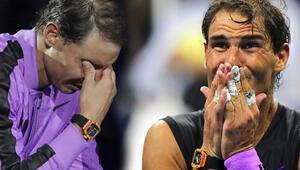 Nadal hıçkıra hıçkıra ağladı Tarihi an...
