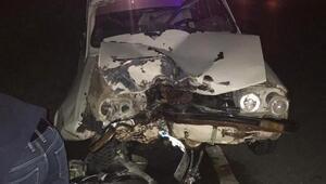 Otomobil ile motosiklet çarpıştı: 1 ölü, 4 yaralı