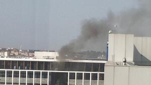 Kavacıkta özel üniversite binasında yangın