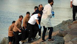Avcılarda denizde erkek cesedi bulundu