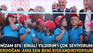 Gülümseten diyaloglar Erdoğan: Ama sen beni kıskandırıyorsun…