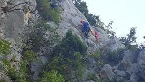 Çıktıkları sarp kayalıklardan AFAD çıkardı