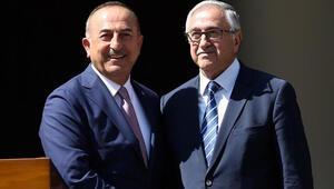 Dışişleri Bakanı Çavuşoğlu ile KKTC Cumhurbaşkanı bir araya geldi