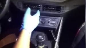 Sarıyerde araçta gizli bölmeye saklanmış uyuşturucu ele geçirildi