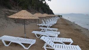 Gemlik'teki Hasanağa Kadınlar Plajı sezonu kapattı