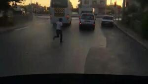 Kırmızı ışık ihlali yapan servis sürücüsüne 705 TL para cezası